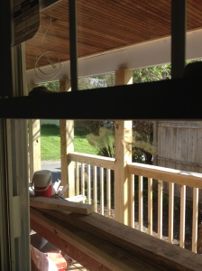 Inside out view of porch from mud room